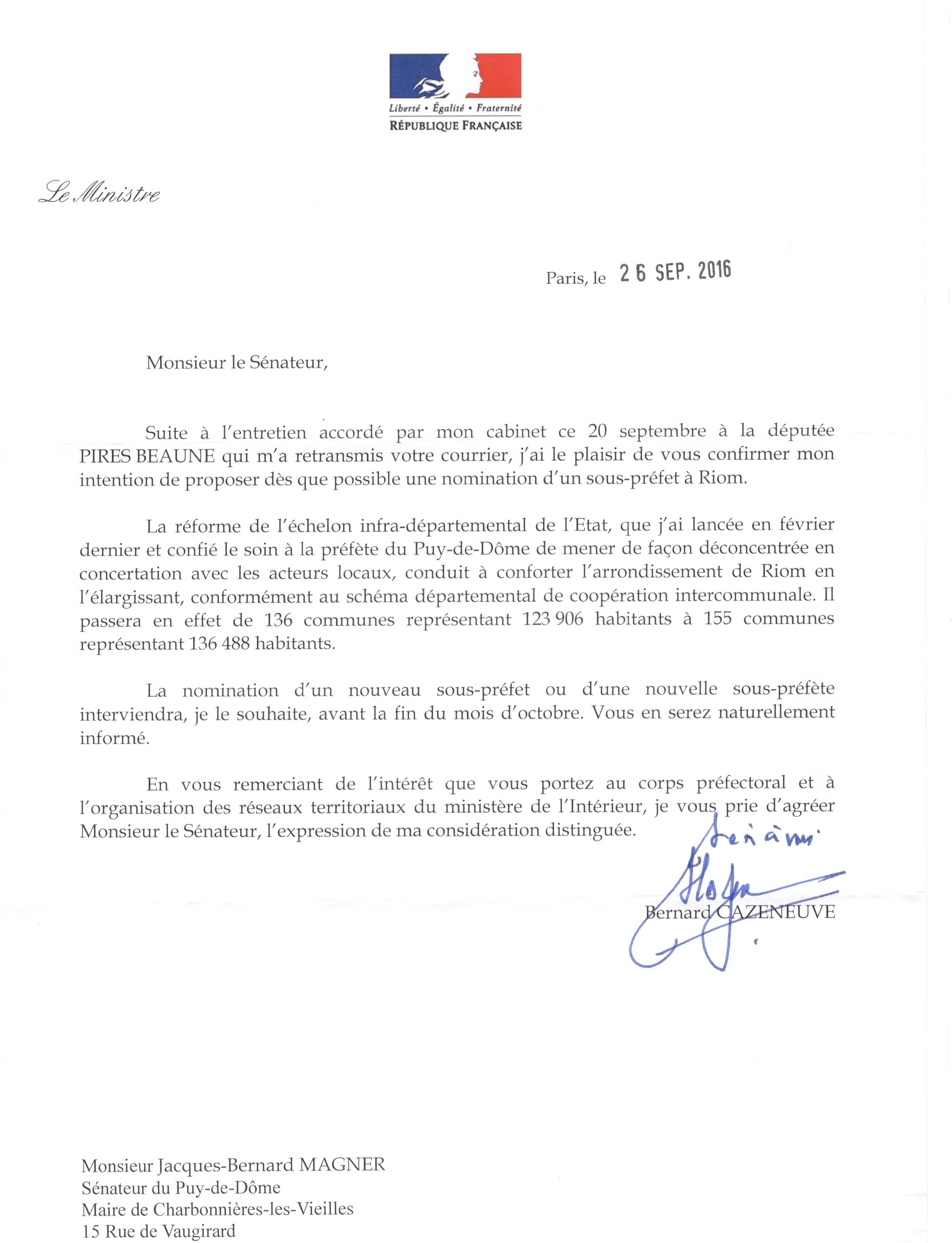 courrier cazeneuve